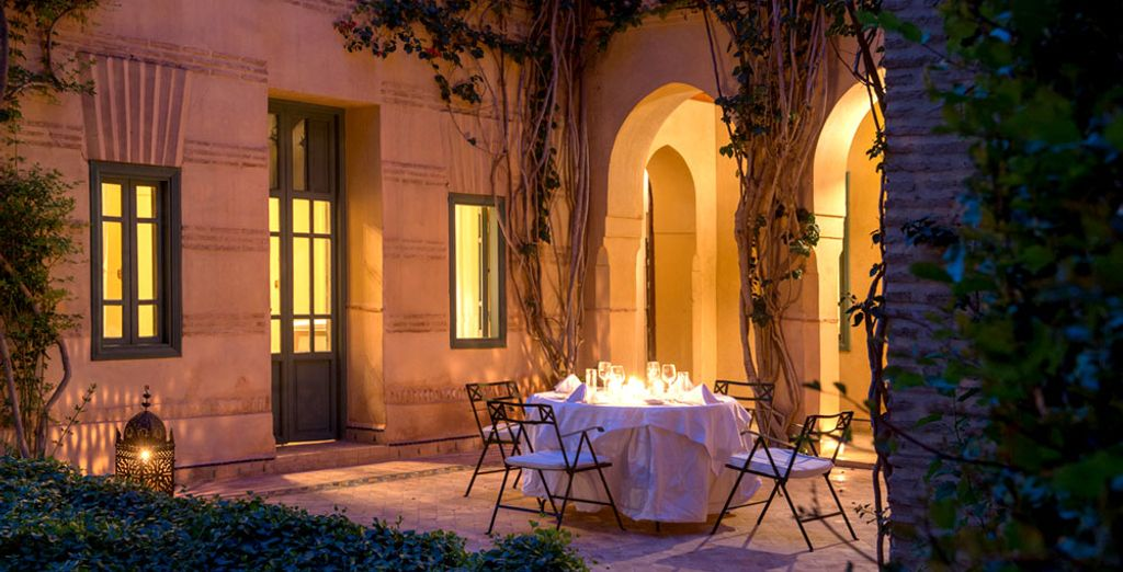 Enjoy magical moments in the hotel's many courtyards and alcoves