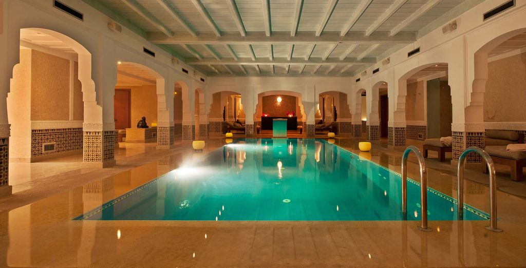 Unwind in the large indoor pool...