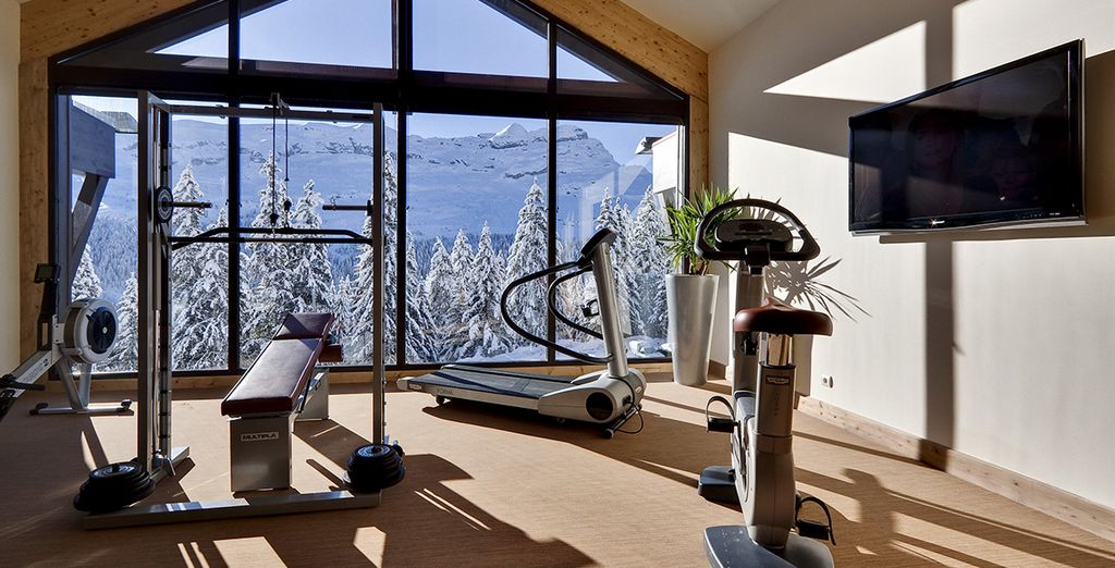 Or enjoy a workout with fabulous views