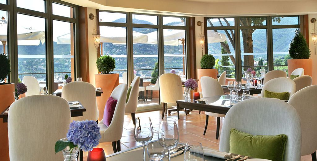 Treat yourself to a gourmet experience at the restaurant