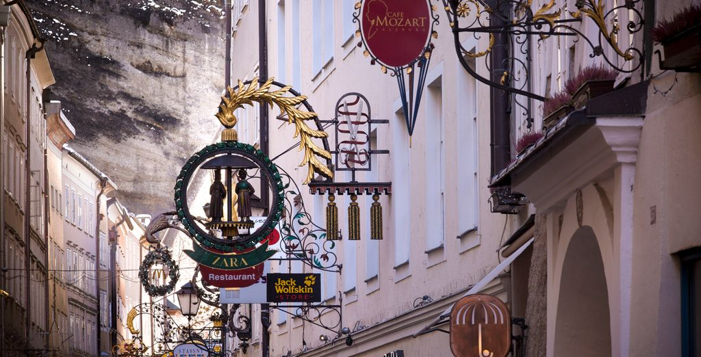 Located in the heart of the old town of Salzburg