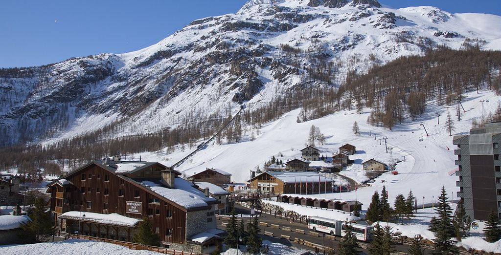 ... Close to the slopes