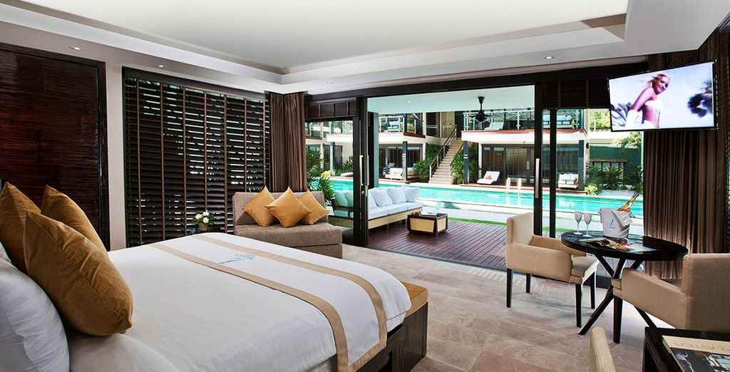 Stay in a beautifully designed Pool Access Suite