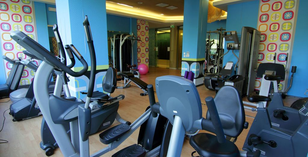 Burn up a sweat in the well-equipped gym