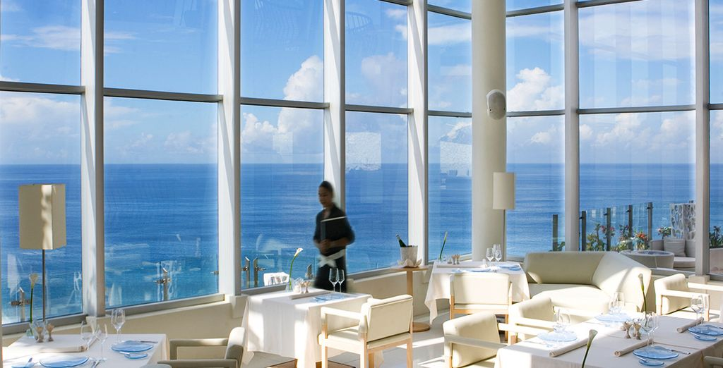 But don't miss out on the breathtaking view from the main restaurant