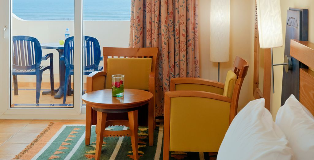 And with a stay in a Sea View Room you can wake each morning to the stunning vistas of the big blue!