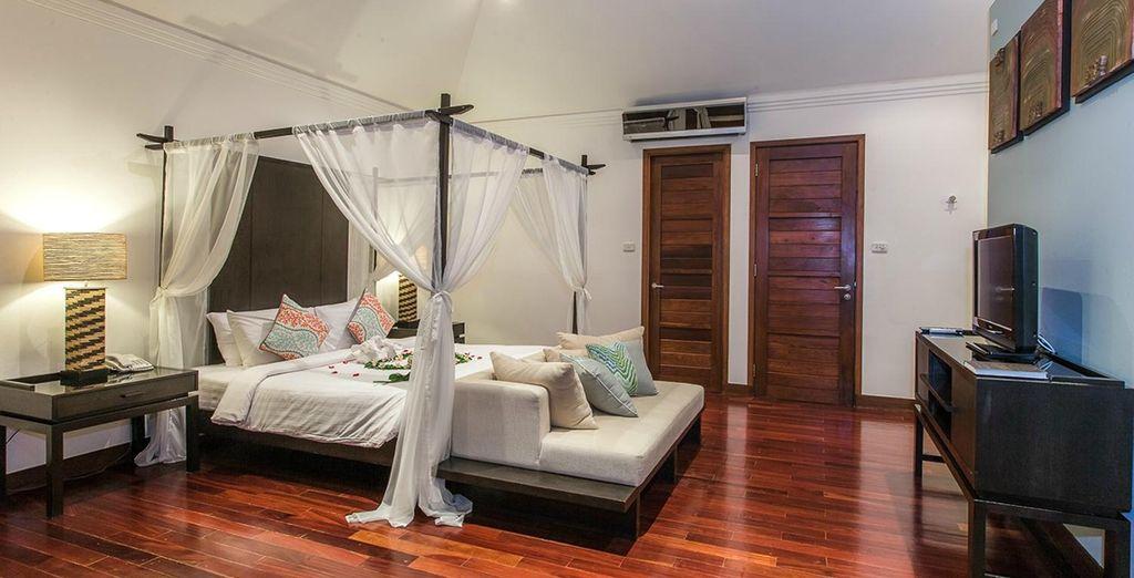 Where warm, spacious interiors...