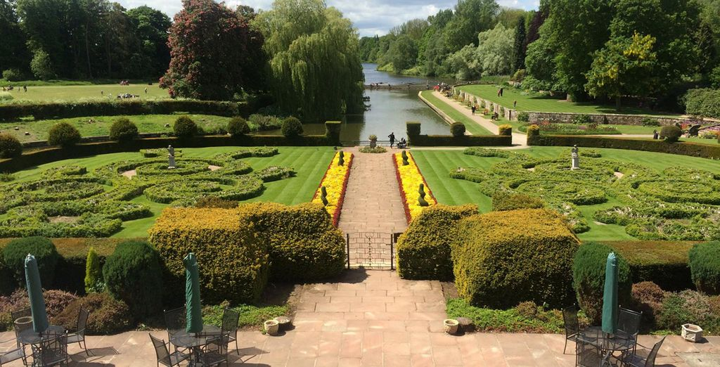 There is much to admire in the immaculately designed gardens