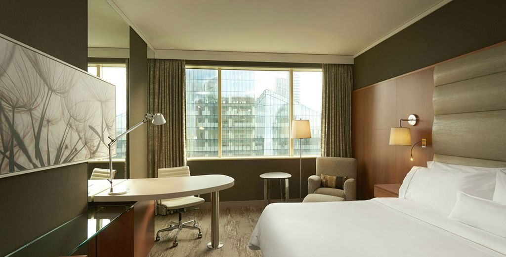 Relax in the luxurious space of your Deluxe Room
