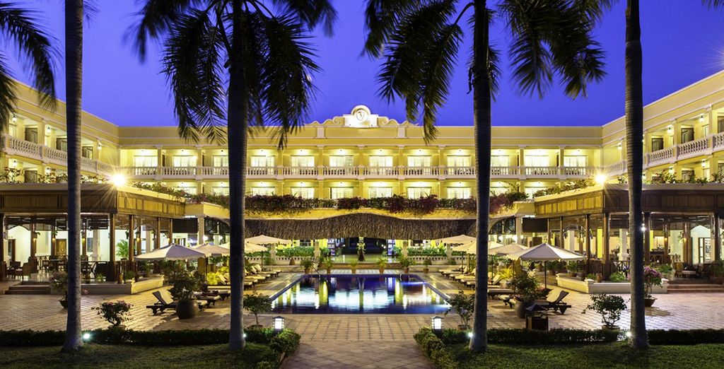 You may choose from 4* or 5* hotels throughout (Victoria Can Tho)