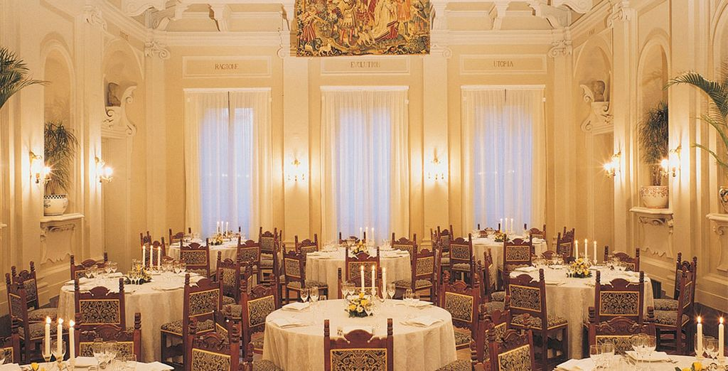 Dine in regal surroundings