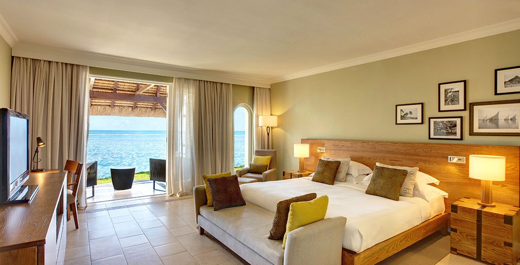 Your upgraded Beach Front Club Room is supremely spacious