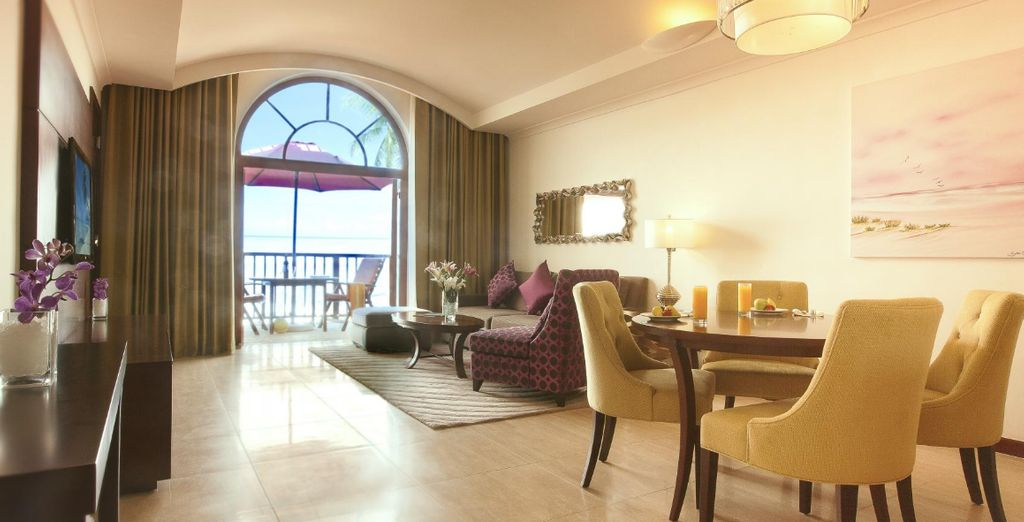 Choose between 2 separate Royal Jasmine Suites (pictured: Royal Jasmine One Bedroom Suite)