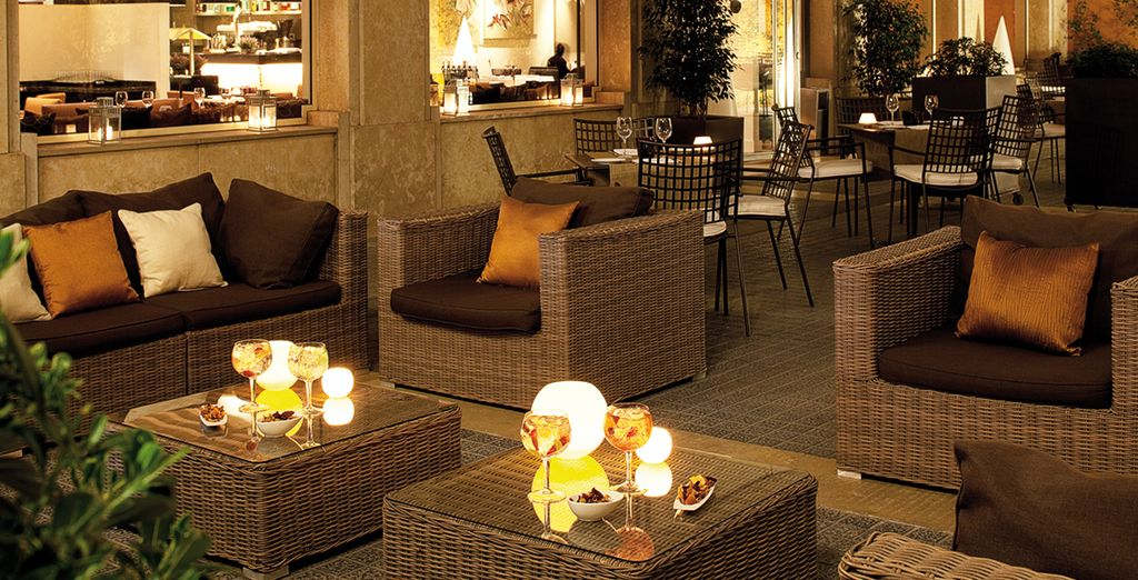 Have a drink at the stylish rooftop bar