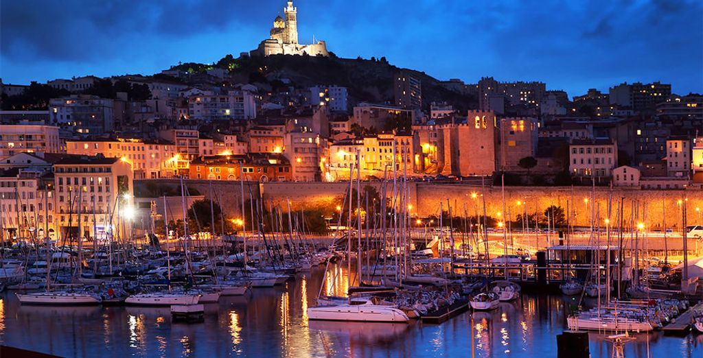 The Vieux Port and Notre Dame de la Garde in Marseille