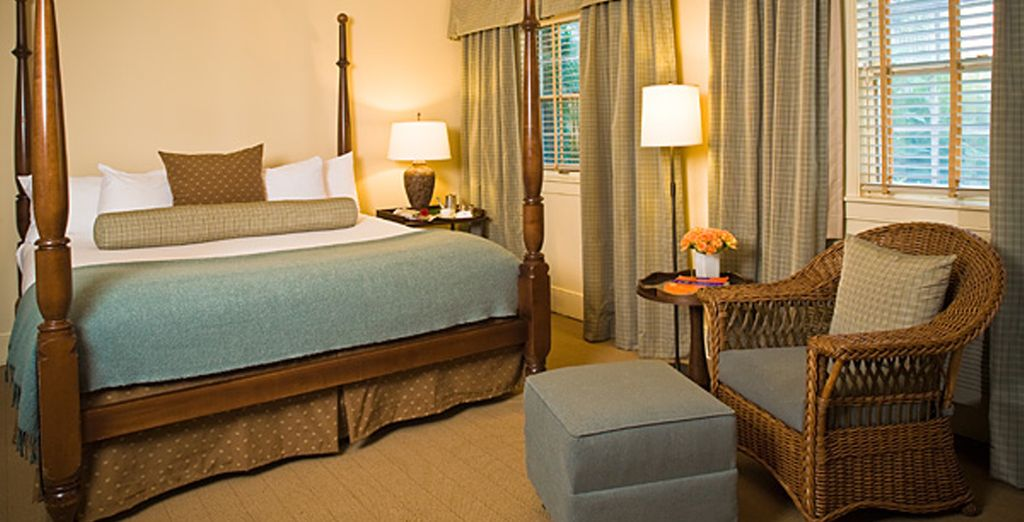 Stay in a traditionally decorated room