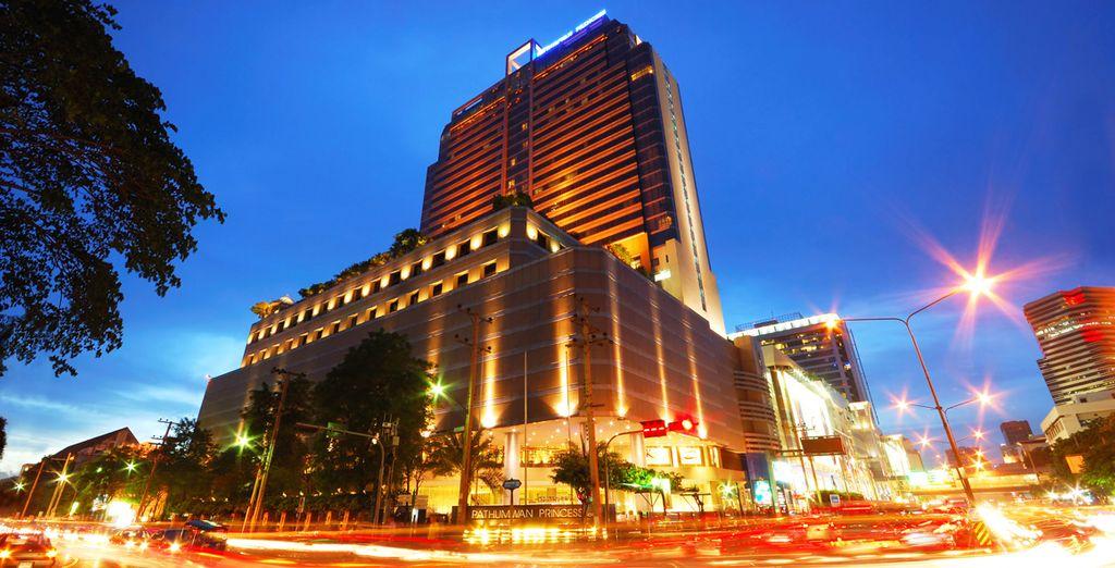 Start in Bangkok in Pathumwan Princess Hotel for 3 nights