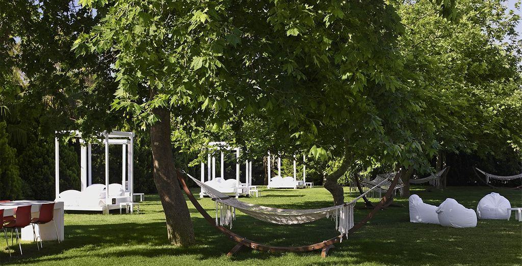 Or chill out in a hammock