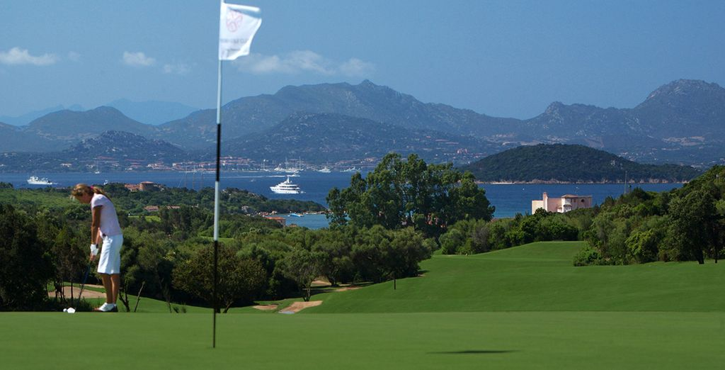 Or take the free shuttle to nearby Pevero Golf Club