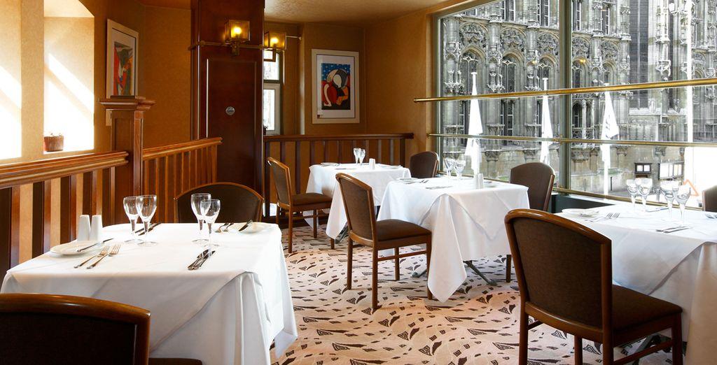 The restaurant offers delicious cuisine