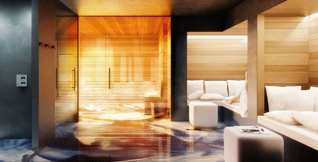 Or maybe unwind in the chic spa!