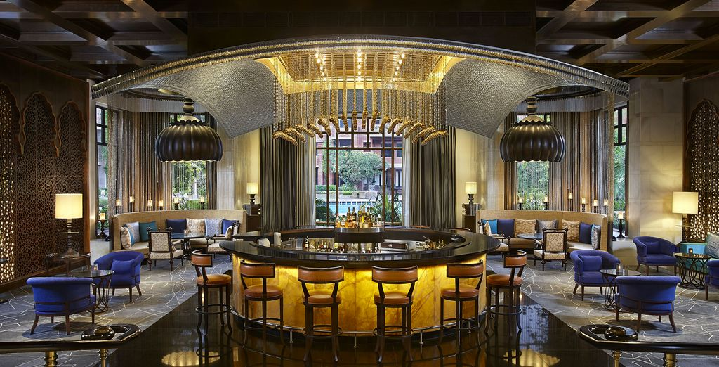 Discuss the days adventure it palatial surroundings (pictured: ITC Rajputana)