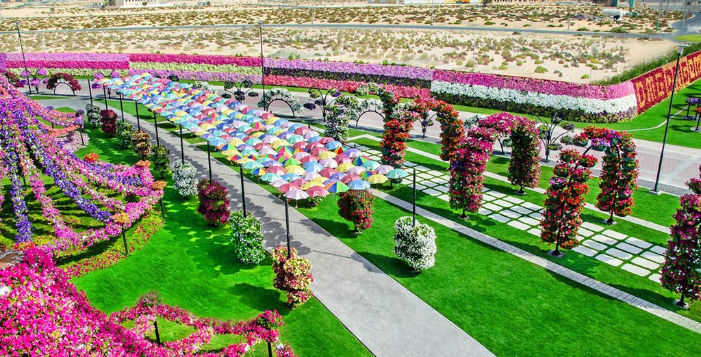 But there's more to Dubai than an urban jungle: spend an afternoon strolling through Miracle Gardens