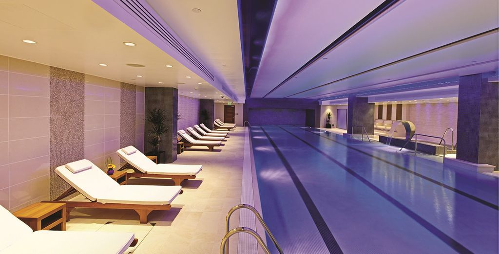 Or luxuriate in the large pool