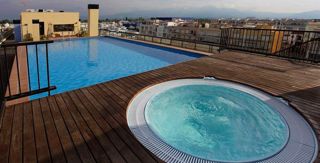 Relax in the pool or Jacuzzi