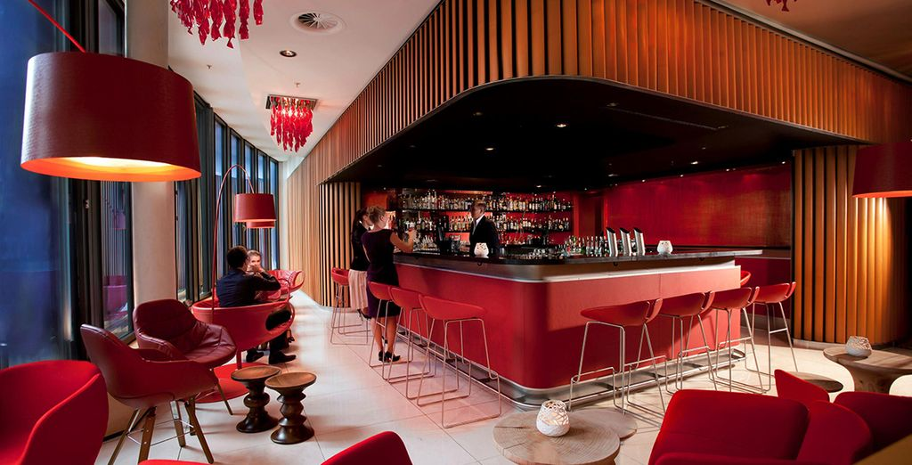 Return to your hotel for a drink at the swanky and stylish bar