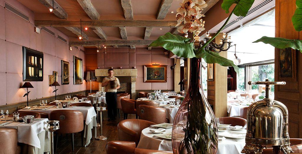 In the hotel's exquisite restaurant