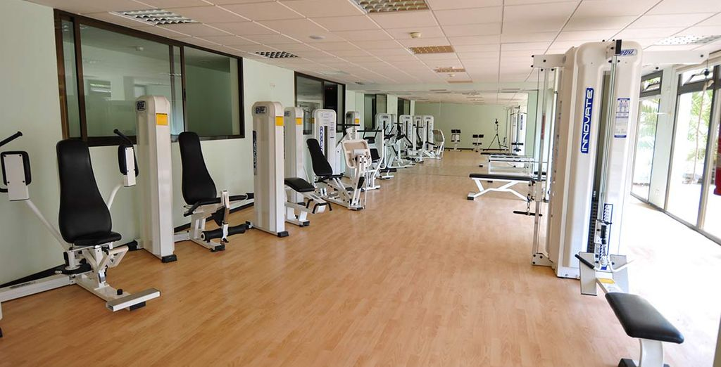 Burn up a sweat in the hotel gym