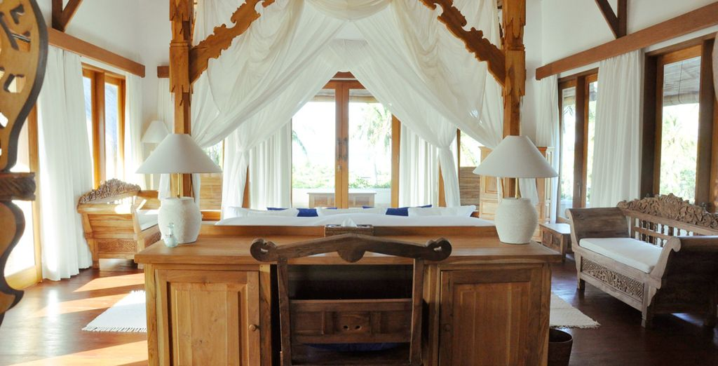 You will stay in a Banyan Master Suite