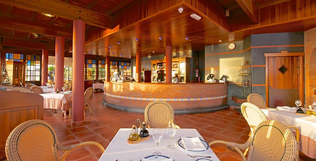 Or dine inside amongst the calm surroundings