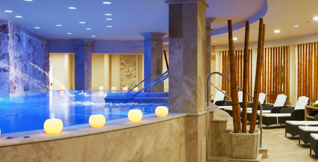 You can enjoy one day free entry to the luxurious spa