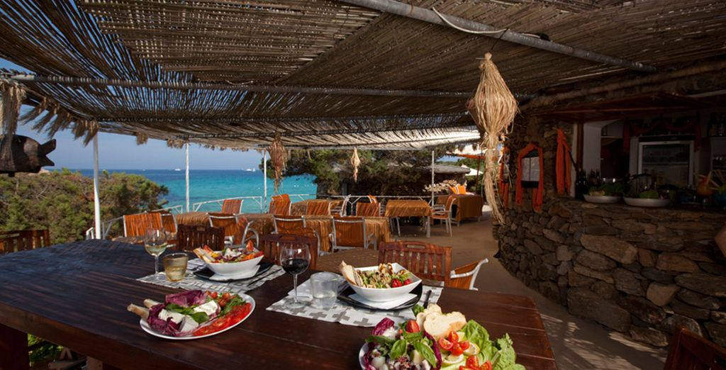 Or a bite to eat at the beachside restaurant