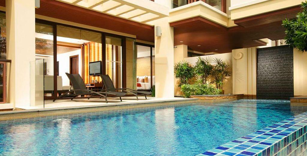 Enjoy a fabulous pool suite