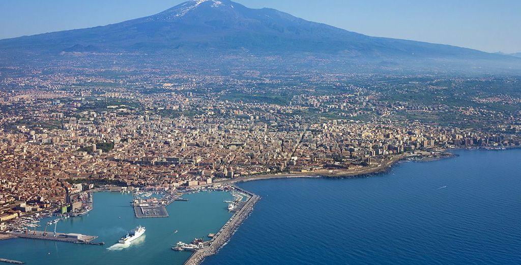 Admire Mount Etna, the largest volcano in Europe