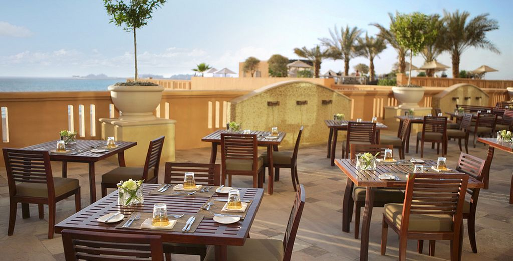 Enjoy breakfast in the sunshine on the terrace