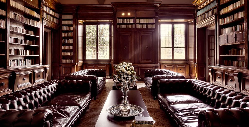 Then head to the grand library to relax