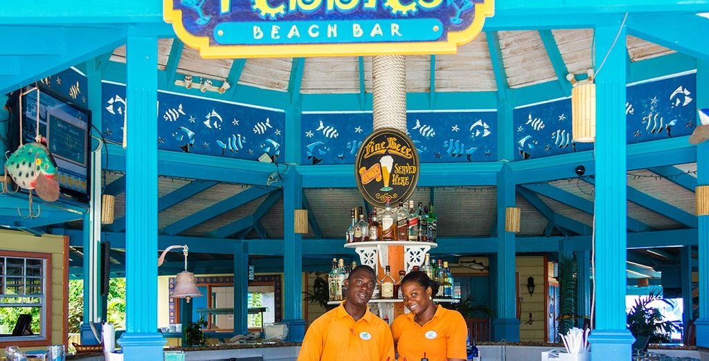 And immerse yourself in the Caribbean hospitality at Pebbles Beach Bar