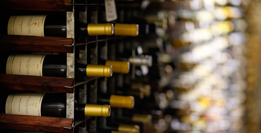 With an extensive wine collection