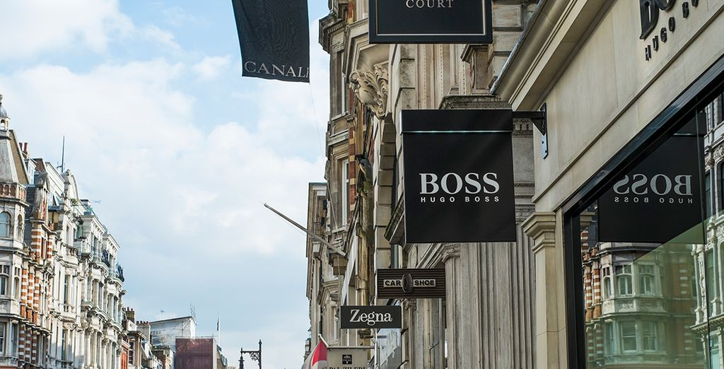 then explore the swanky shops of Bond Street