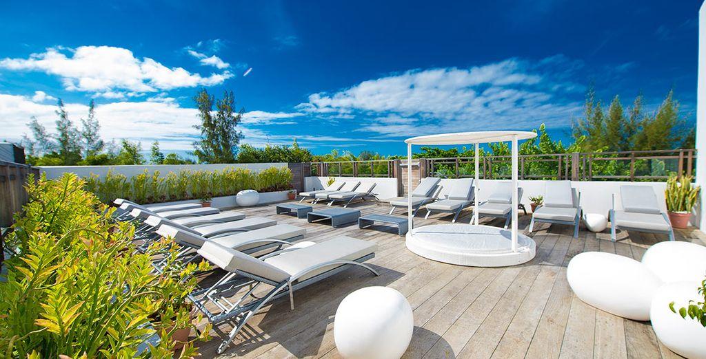 Soak up some sun on the terrace...