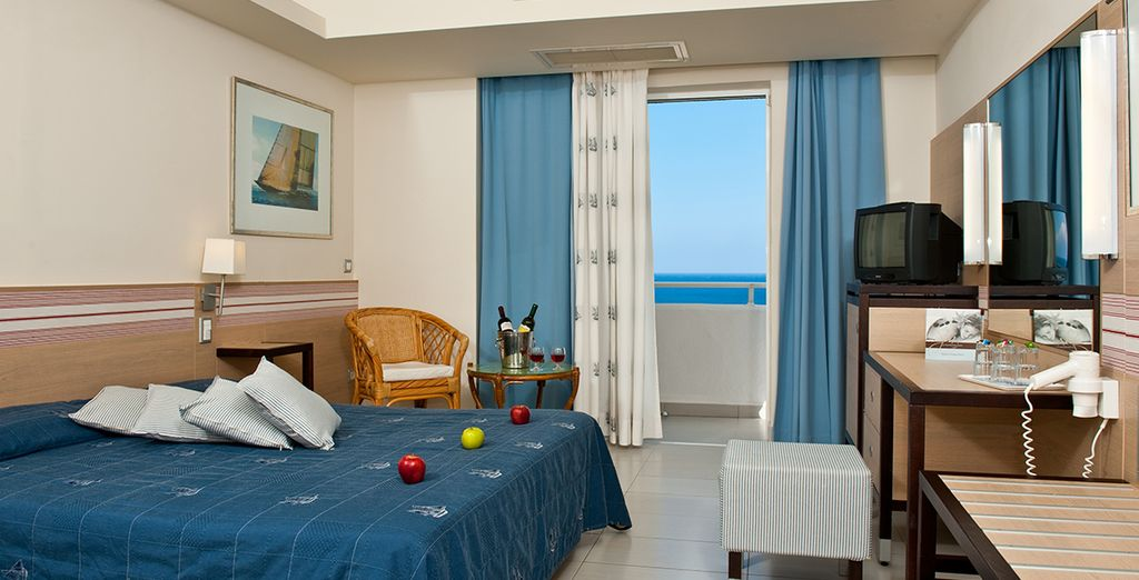 Our members will stay in a Side Sea View Room