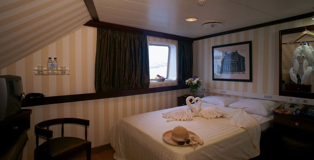 Opt for a stay in an A-class Cabin