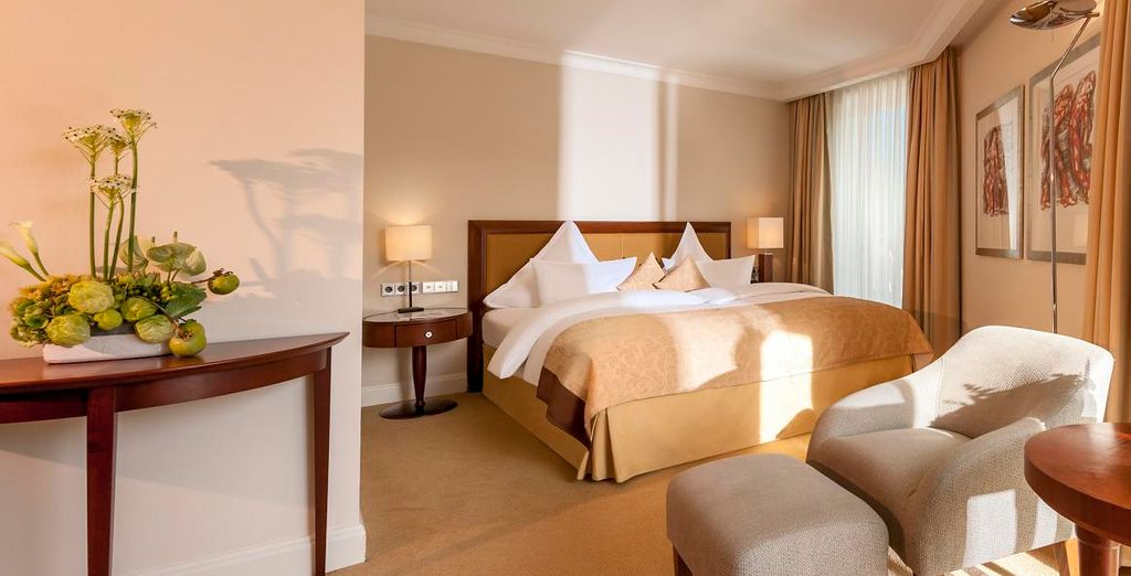 Stay in a warm and spacious Superior Room
