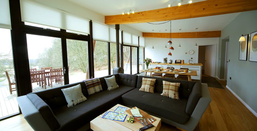 With this beautiful lodge you will encounter comfortable living areas