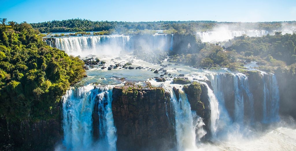 Taking in spectacular sights, from Iguazu falls