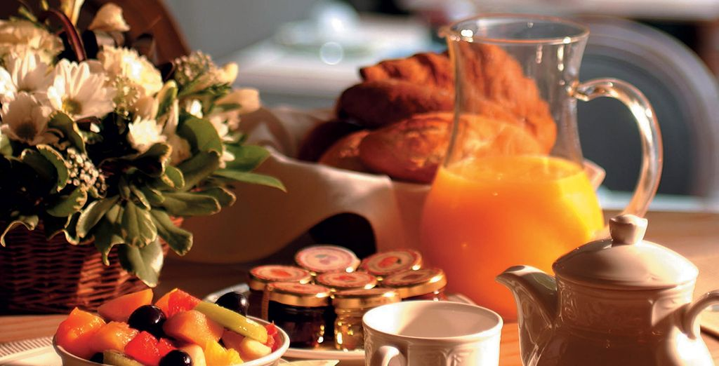 Wake up to a delicious continental breakfast